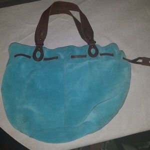 Lucky Brand drawstring turquoise vintage hobo
